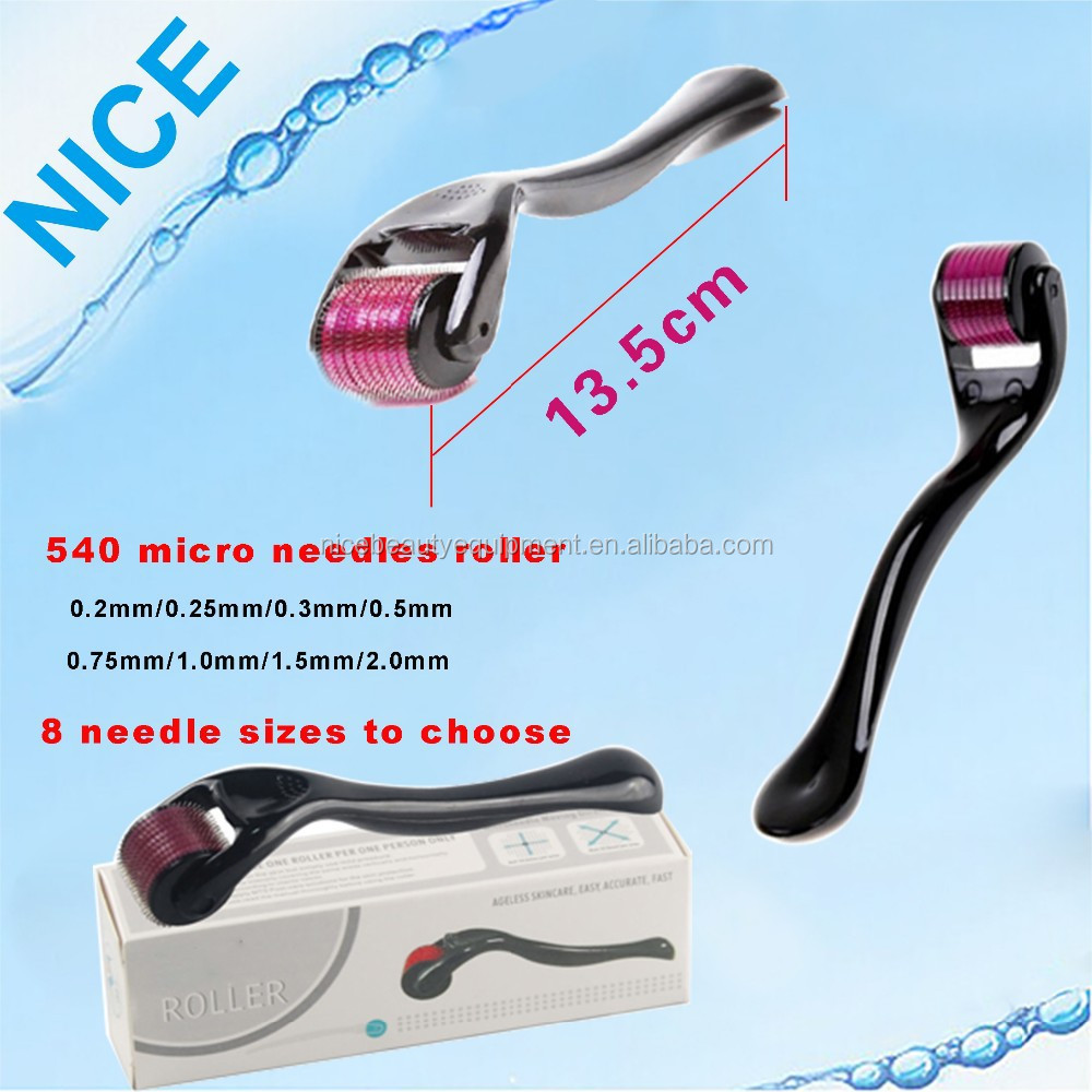China Micro Needle System Wholesale Alibaba Dermaroller 540 Generasi 2 Titanium Size 05mm