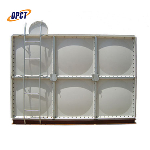 50m3 firefighting frp / grp pressed panel rectangular water storage tank