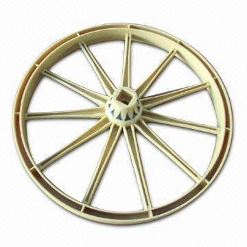 injection molded plastic wheel for industrial products