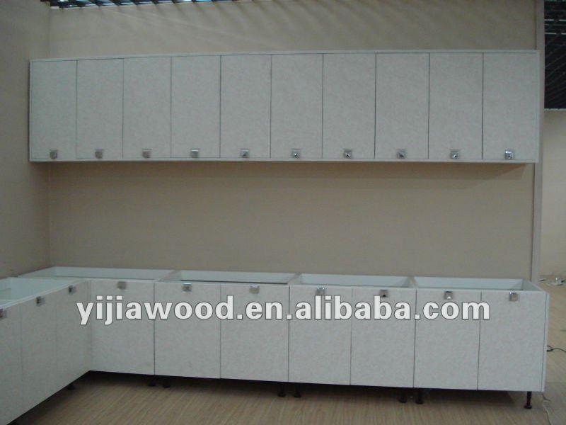 Keukenkast met houtnerf melamined spaanplaat en pvc for Keukenkast ontwerpen