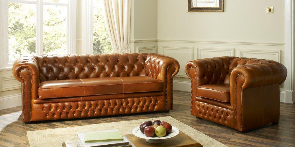 Superbe Hampton Chesterfield Leather Sofa   Buy Chesterfield Sofa Product On  Alibaba.com