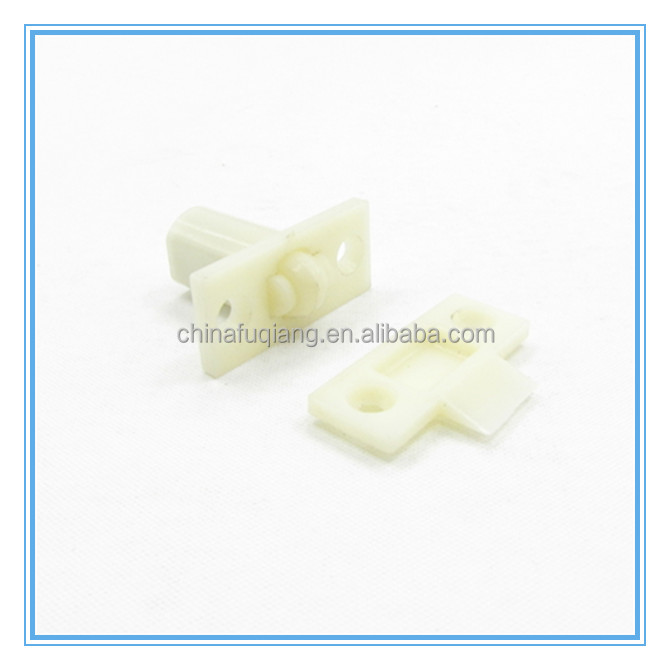 Door roller catch plastic