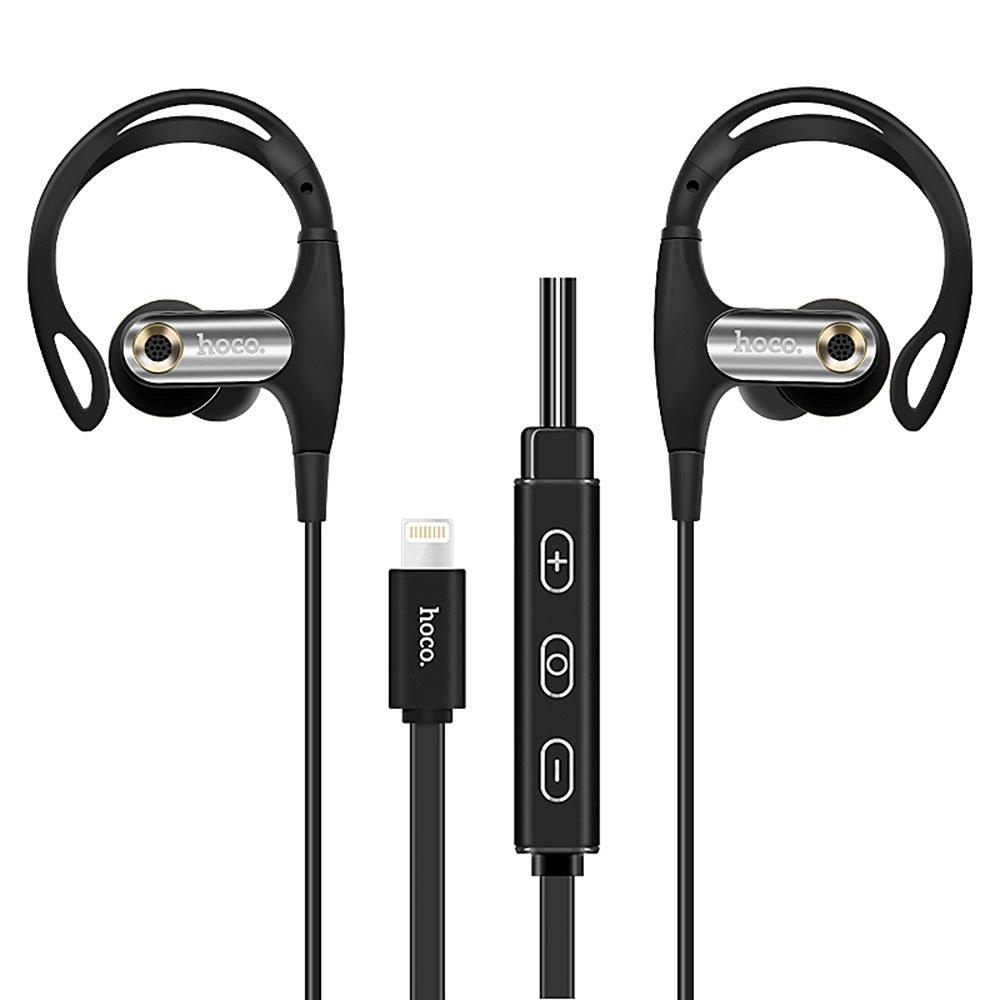 Headphones with Lightning Connector, Pandawell iPhone 7 / iPhone 7 Plus 8-pin Lightning 24-bit Digital In-ear Earphones Ergonomic Earhook Design With Volume Control for iPhone, iPad, iPod - Black