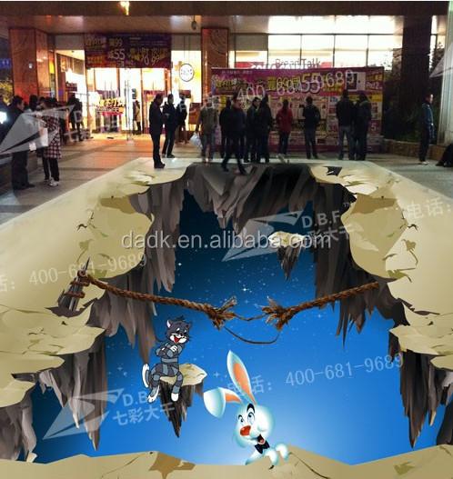 Werbung boden customed design pvc magie 3d boden aufkleber ...