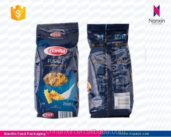 customizable pasta packaging foil lined pouch with window