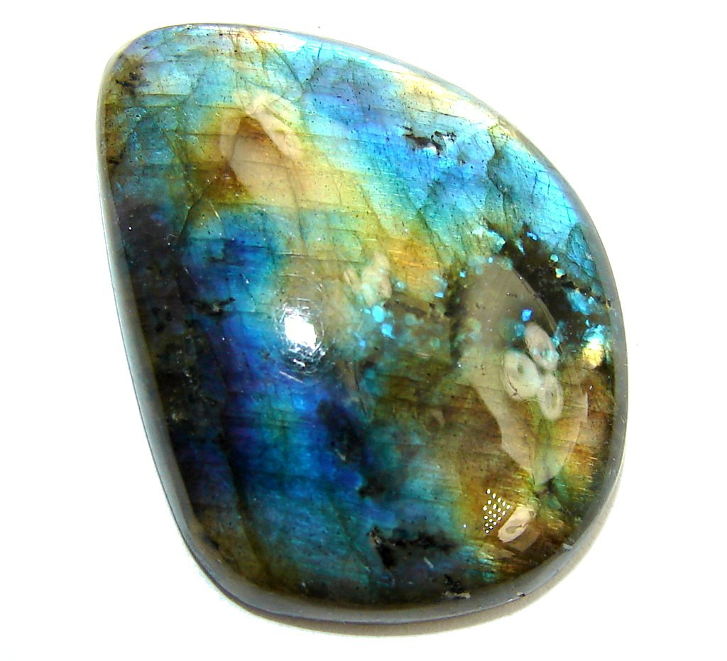 Natural Aaa Fire Blue Labradorite 27.5ct Loose Stone from SilverRush Style