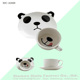 porcelain ceramic panda coffee cup and saucer set for birthday gift