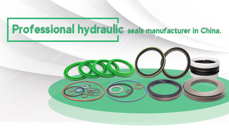 Mechanical System Gearboxes Anti Leakage Carbon Filled PTFE Labyrinth Seals with FKM o Rings