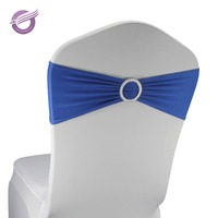 BS00136 royal spandex lycra chair bands elastic chair sash with buckle for wedding
