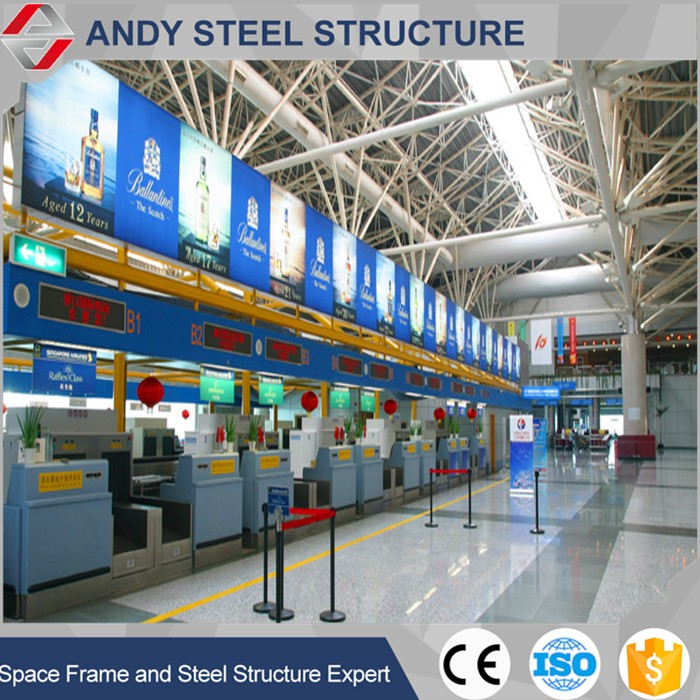 Light Steel Space Frame Airport Terminal steel roof trusses System