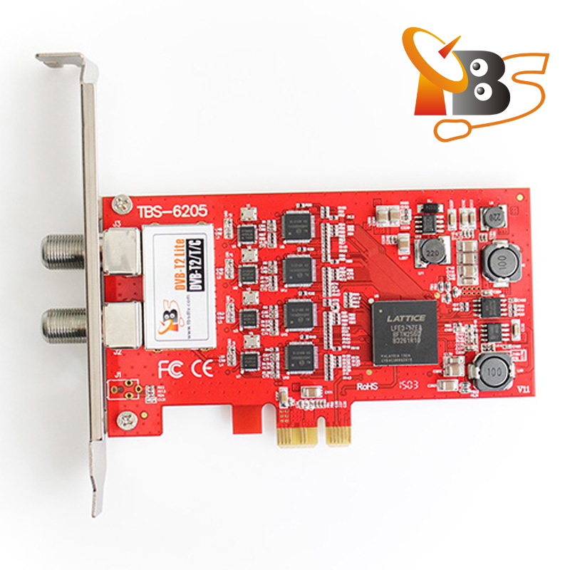 TBS6205 <strong>DVB</strong>-T2/<strong>T</strong>/C Quad TV Tuner PCIe Card for Watching UK Freeview <strong>SD</strong> and <strong>HD</strong> Channels