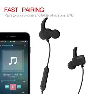 Portable stereo bluetooth headphone sport wireless earphone in-ear bluetooth eartips for music R1615