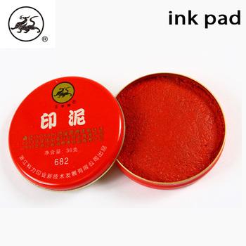 Eco Friendly Plastic Round Sponge Ink Stamp Pad