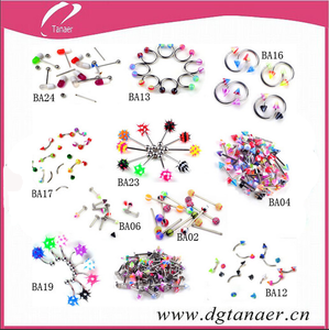 2015 hot sale mix body piercing jewelry for wholesale piercing jewelry