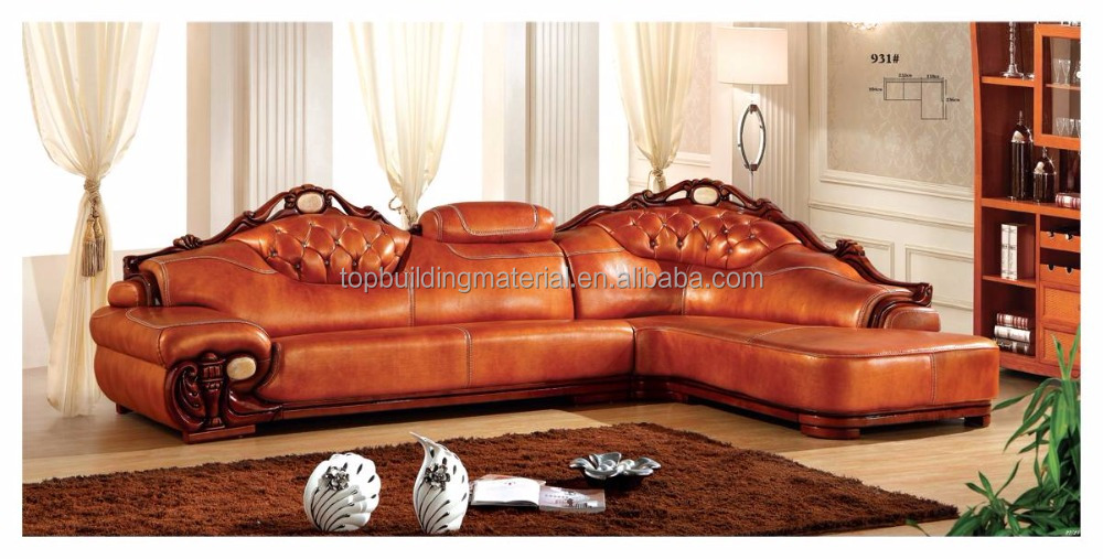 American home sofa genuine leather corner 3.5m sofa