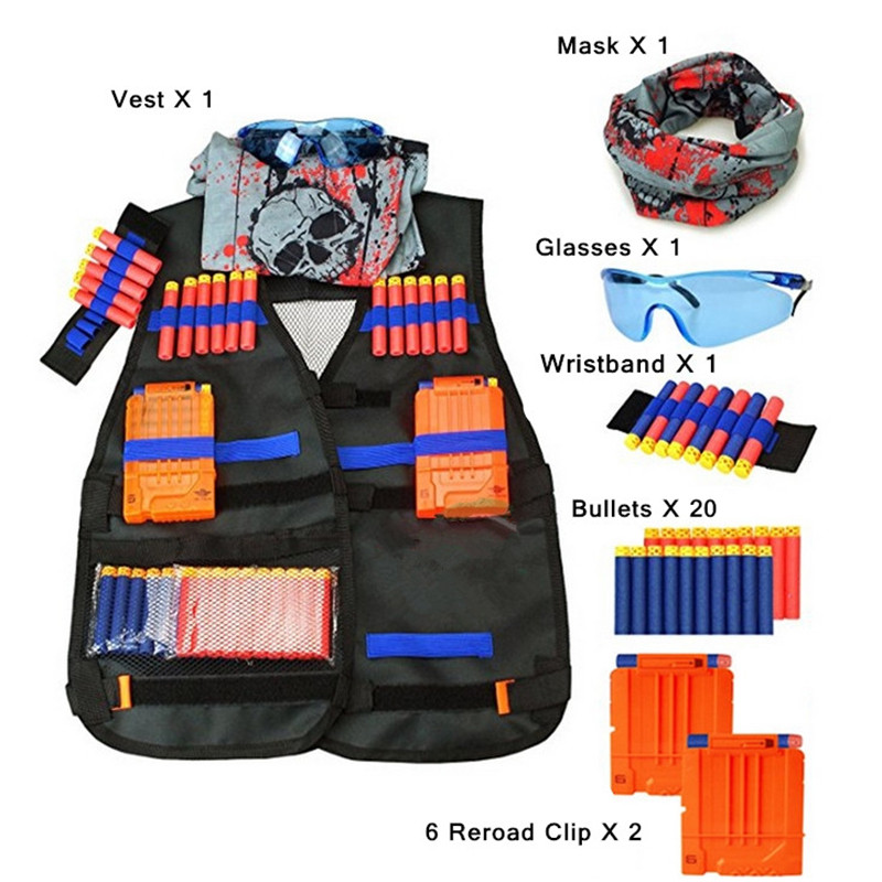 2019 hot selling Amazon wholesale Kid And Adult Adjustable Thin Elite Tactical Vest Kit For Toy Guns