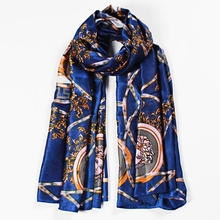Rm135 The Latest Own Design Silk Scarf Cheap Printed Long Silk Scarf.