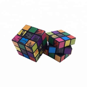 Customized Picture Promotional 3x3 Plastic ABS Puzzle Speed Cubes in Educational Toys