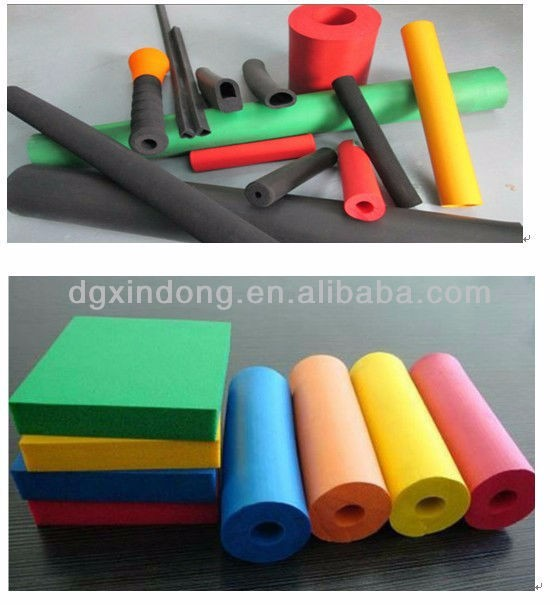 High Quality Extruded silicon rubber foam tube ASH100
