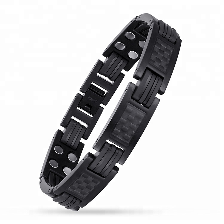 Healthy Bio Elements Energy Stone Healing Titanium Magnetic Bracelet for Blood Pressure Control