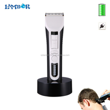 CE FCC 1 year warranty white black ABS material wall hair clipper with 8 hours battery