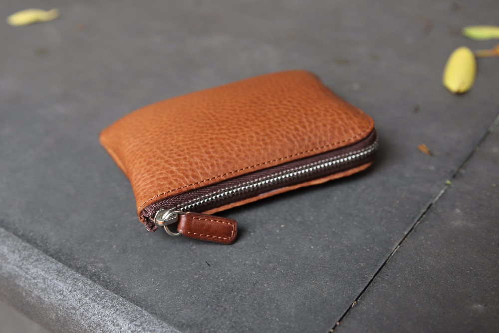 Hot products Factory Customized leather zipper changed coin case for Sale