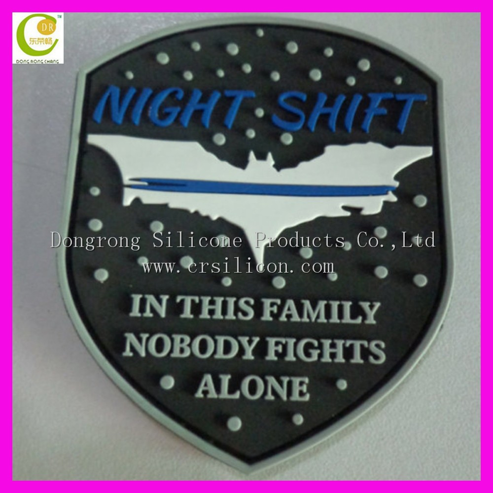 Customized Oem Logo Brand Pvc Rubber 3d Patch With Embossed ...