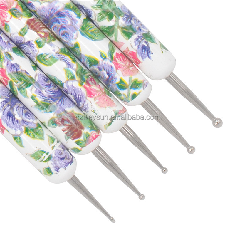 Dotting Painting Drawing Pen Set Rhinestone Beads Pick Up Flower 3D Nail Art Design Manicure Pedicure Kit