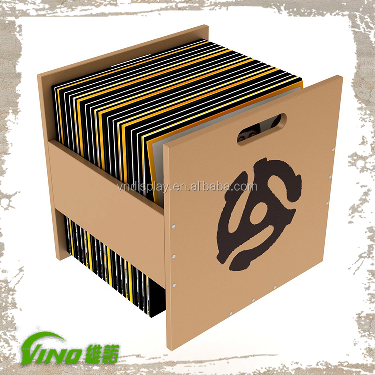dossier album cadre disque vinyle meuble de rangement caisse de rangement en bois support d. Black Bedroom Furniture Sets. Home Design Ideas