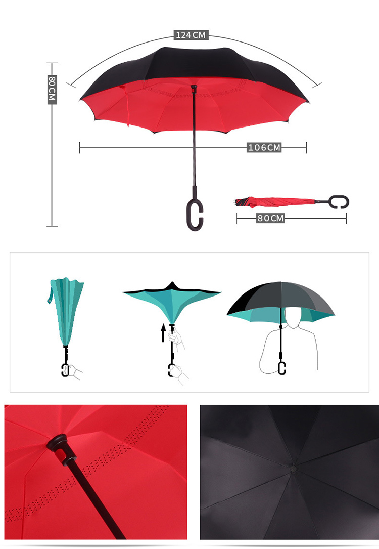 Customized New Type Promotion Straight Umbrella/reverse ...