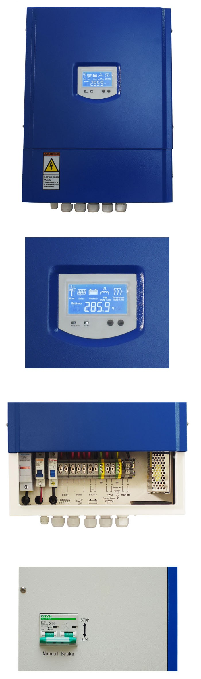 5KW \ % Off Grid PWM Wind Solar Hybrid Charge Controller 48 볼트