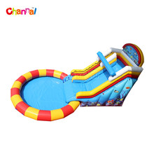 Cheap inflatable water slides with water pool playground inflatable slide for adult for kids