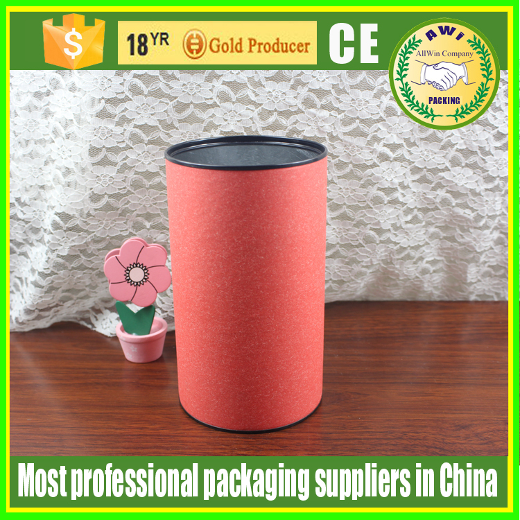 cardboard round box for salt/candle paper tube packaging