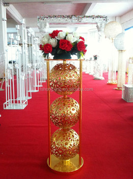 FS36 Crystal Wedding Pillars With Led Light For Stage Decoration Flower Stand