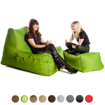 Green 2 Seat 420D Nylon Stylish Lounger Foldable Bean Bag, Communication  Beanbag Sets