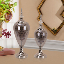 Wedding favors gifts electroplated glass flower vase stand for hotel lobby decoration