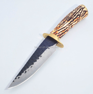 bowie knife hunting steel knives with imitation bone handle