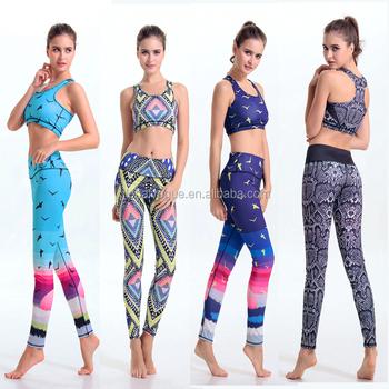 quality design f32df 58fa0 Bohemian Donne Di Sport Di Yoga Set Per Palestra Correre Sportwear  Completo,Boemia Della Ragazza Allenamento Boho Multicolor Lady Fitness ...