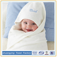 100% cotton solid color hooded baby towel with hooded