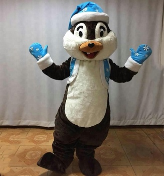 HOLA christmas cartoon mascot costume/Christmas chipmunk mascot costumes for sale