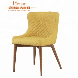Active Color Fabric Hotel Chairs design Wooden Dining Chair