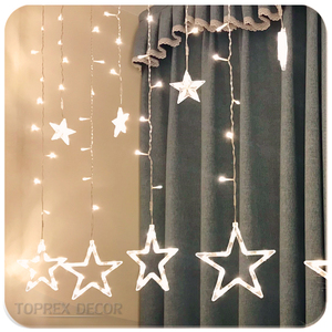 Christmas Decoration LED String Icicle falling star Curtain Wall Lights