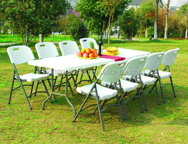 Mobili Da Giardino In Plastica : Mobili da giardino 8 posti di plastica portatile tavolo pieghevole