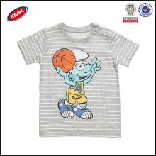 funny baby cartoon clothes made in china, stripe baby t shirt