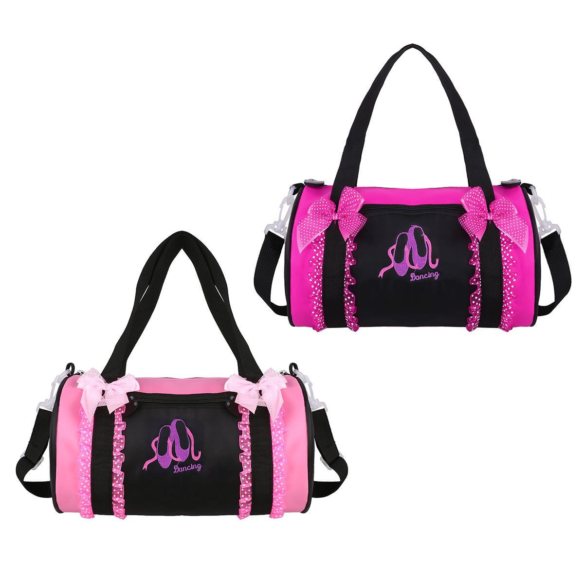 480b3b3c5a55 TiaoBug Kids Ballet Dance Bag Bowknot Ruffle Lace Embroidery Duffel Bag  Hand Bag Ballerina Party Dance Class Girls Shoulder Bag