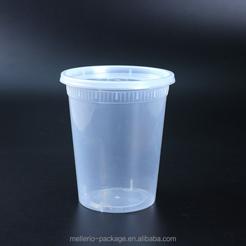 High quality 32oz plastic microwave soup cup
