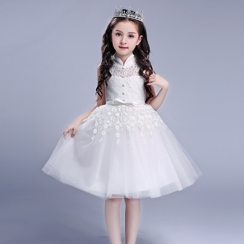 f3adc5eeac96 Normal Frock Designs Children Clothes Flower Muslim Lace Kids Girl Dresses  L5021