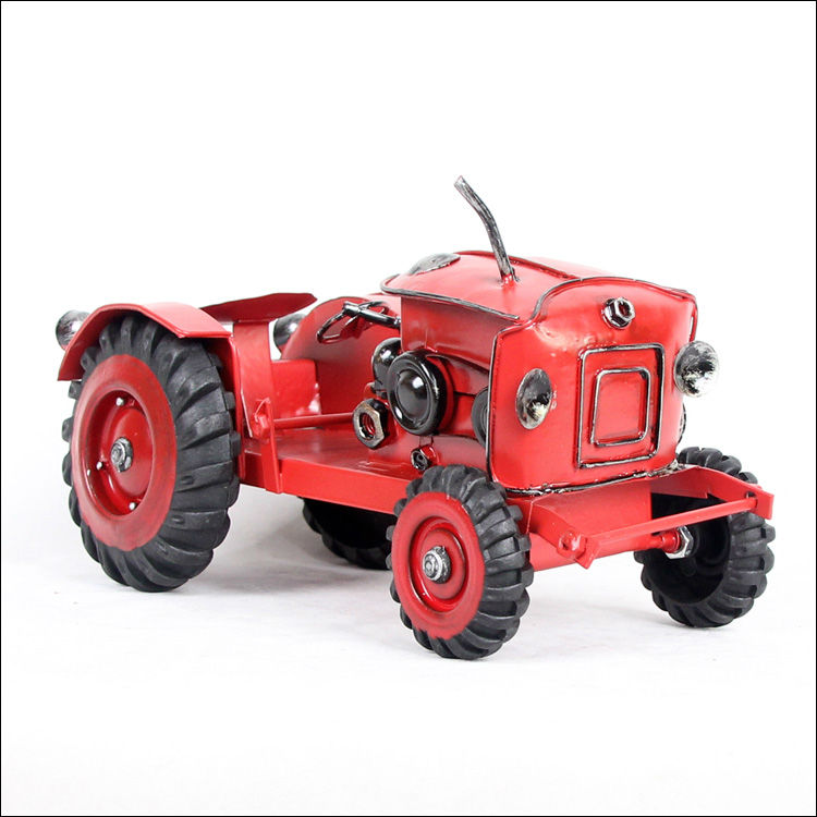 M5R Metal red farm tractor model wecker model