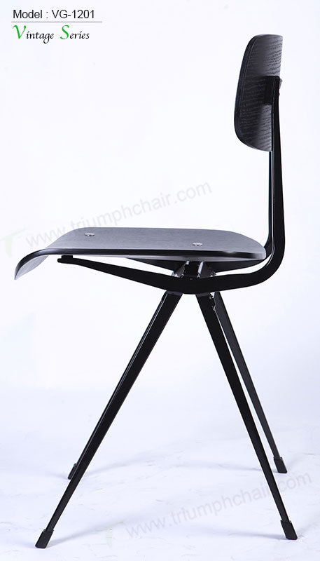 Triumph Vintage Black Metal Dining Chair Industrial Metal Cafe – Metal Frame Dining Chairs