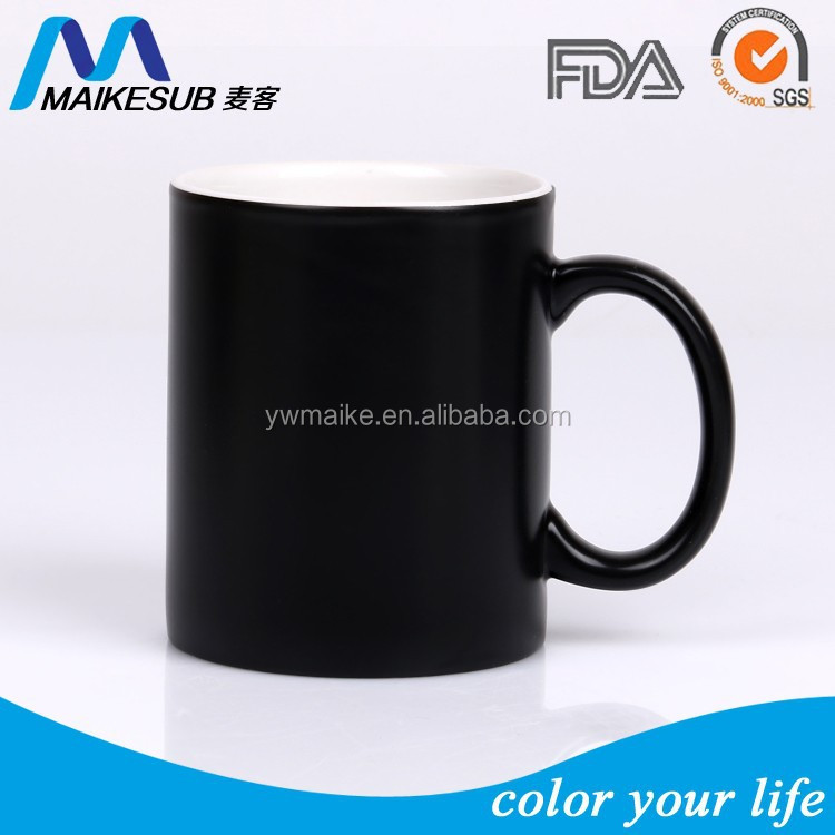 11oz sublimation ceramic colo changing mug with 3 colors